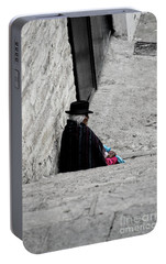 Portable Battery Charger featuring the photograph Elderly Beggar In Chordeleg by Al Bourassa
