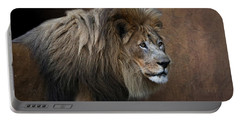 Portable Battery Charger featuring the photograph Elderly Gentleman Lion by Debi Dalio