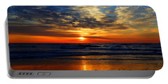 Electric Golden Ocean Sunrise Portable Battery Charger