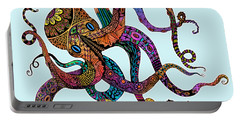 Electric Octopus - Customizable Background Portable Battery Charger by Tammy Wetzel