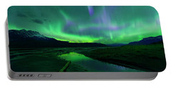 Electric Skies Over Jasper National Park Portable Battery Charger
