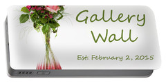 Portable Battery Charger featuring the photograph Elegance-the Gallery Wall Logo by Wendy Wilton
