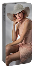Elegant Johanna In Peach Portable Battery Charger