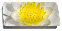 Elegant Lotus Portable Battery Charger by Christopher L Thomley