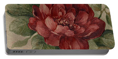 Portable Battery Charger featuring the mixed media Elegant Rose by Writermore Arts