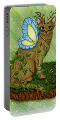 Elemental Earth Fairy Cat Portable Battery Charger