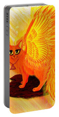 Elemental Fire Fairy Cat Portable Battery Charger