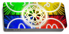 Portable Battery Charger featuring the digital art Elements Of Consciousness by Shawn Dall