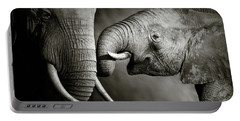 Elephant Affection Portable Battery Charger