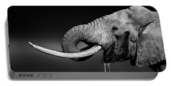 Elephant Bull Drinking Water Portable Battery Charger