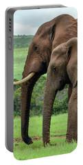 Elephant Couple Profile Portable Battery Charger