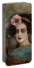 Portable Battery Charger featuring the digital art Elephant Dreamer by Lisa Noneman