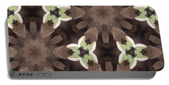Elephant Flowers Portable Battery Charger by Maria Watt