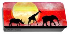 Elephant Giraffe Rhinoceros Portable Battery Charger