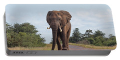 Elephant In Kruger Portable Battery Charger