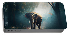 Elephant In The Mist - Painting Portable Battery Charger