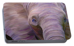Portable Battery Charger featuring the digital art Elephant by Matt Lindley