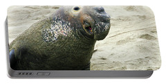 Portable Battery Charger featuring the photograph Elephant Seal by Anthony Jones