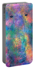 Portable Battery Charger featuring the painting Elephant Spirit by Denise Tomasura