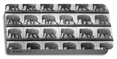 Elephant Walking Portable Battery Charger by Eadweard Muybridge