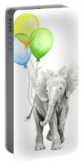 Elephant Watercolor Baby Animal Nursery Art Portable Battery Charger