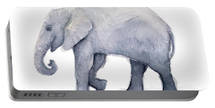 Elephant Watercolor Portable Battery Charger