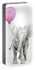 Baby Elephant Watercolor  Portable Battery Charger