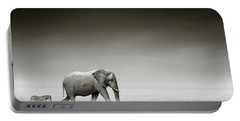 Elephant With Zebra Portable Battery Charger