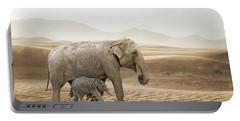 Elephants  Portable Battery Charger