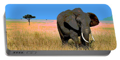 Elephants Portable Battery Charger by Charles Shoup