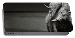 Elephants Interacting Portable Battery Charger