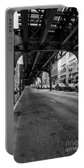 Elevated Train Track The Loop In Chicago, Il Portable Battery Charger