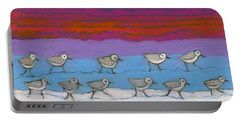 Portable Battery Charger featuring the painting Eleven Pipers Piping by Denise Weaver Ross