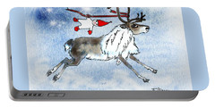 Elf And Reindeer Portable Battery Charger