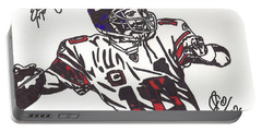 Portable Battery Charger featuring the drawing Eli Manning by Jeremiah Colley