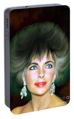 Portable Battery Charger featuring the painting Elizabeth 2 by Andrzej Szczerski