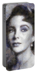 Elizabeth Taylor By Sarah Kirk Portable Battery Charger