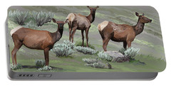 Elk Cows Trio Portable Battery Charger