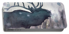 Portable Battery Charger featuring the painting Elk by Dawn Derman
