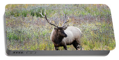 Elk In Wildflowers #1 Portable Battery Charger