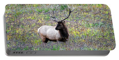 Elk In Wildflowers #2 Portable Battery Charger