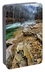Portable Battery Charger featuring the photograph Elk River In The Rain by Thomas R Fletcher