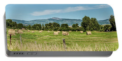 Portable Battery Charger featuring the digital art Elk River Valley Harvest by Daniel Hebard
