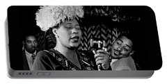Ella Fitzgerald Dizzy Gillespie And Ray Brown William Gottlieb Photo Nyc 1947-2015 Portable Battery Charger