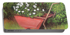 Eloise's Garden Cart Portable Battery Charger by Jeanette Jarmon