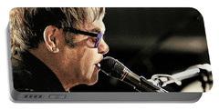 Elton John At The Mic Portable Battery Charger