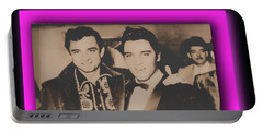 Elvis And Johnny Portable Battery Charger