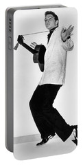 Elvis Presley In 1956 Portable Battery Charger by Underwood Archives