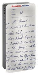 Elvis Presley Letter To President Richard Nixon Portable Battery Charger