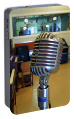 Portable Battery Charger featuring the photograph Elvis Presley Microphone by Mark Czerniec